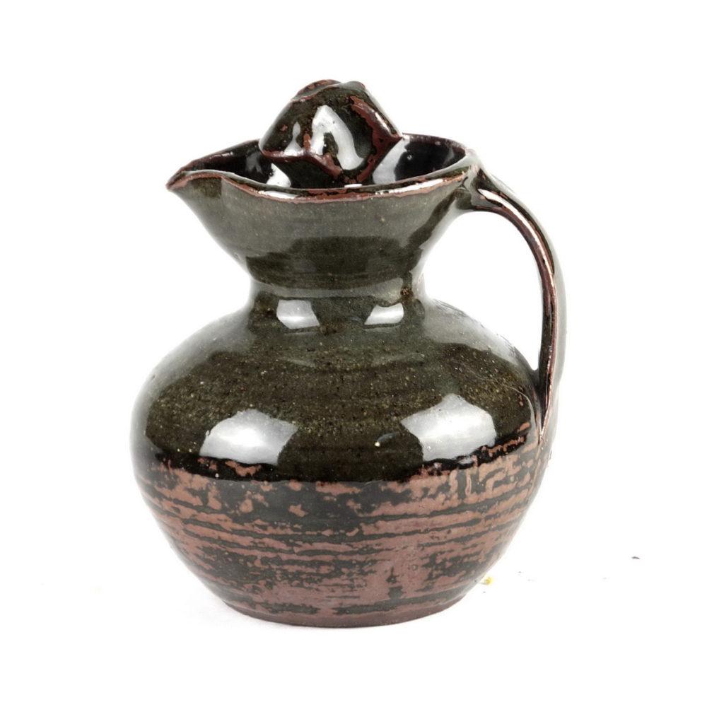 Michael Cardew stoneware ceramic jug with corkscrew stopper