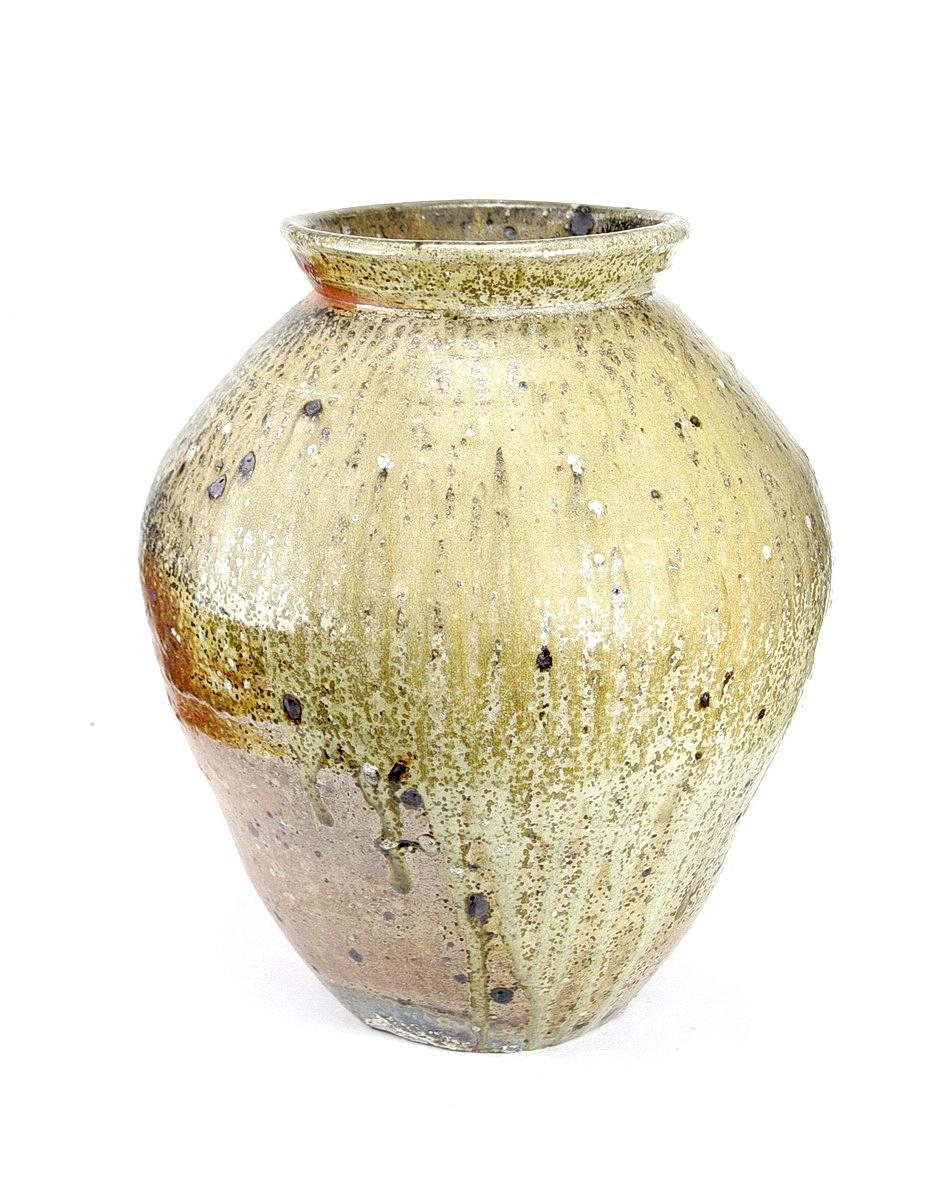 Nic Collins large wood fired stoneware jar