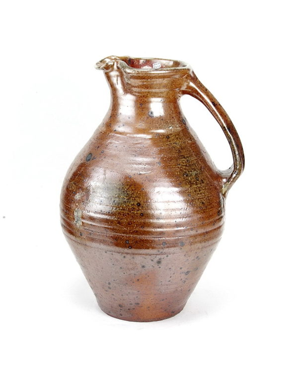 Nic Collins large bulbous stoneware jug wood fired