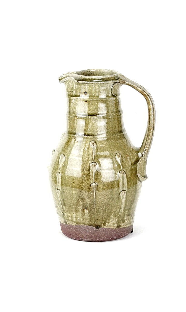 Phil Rogers stoneware jug with ash glaze and