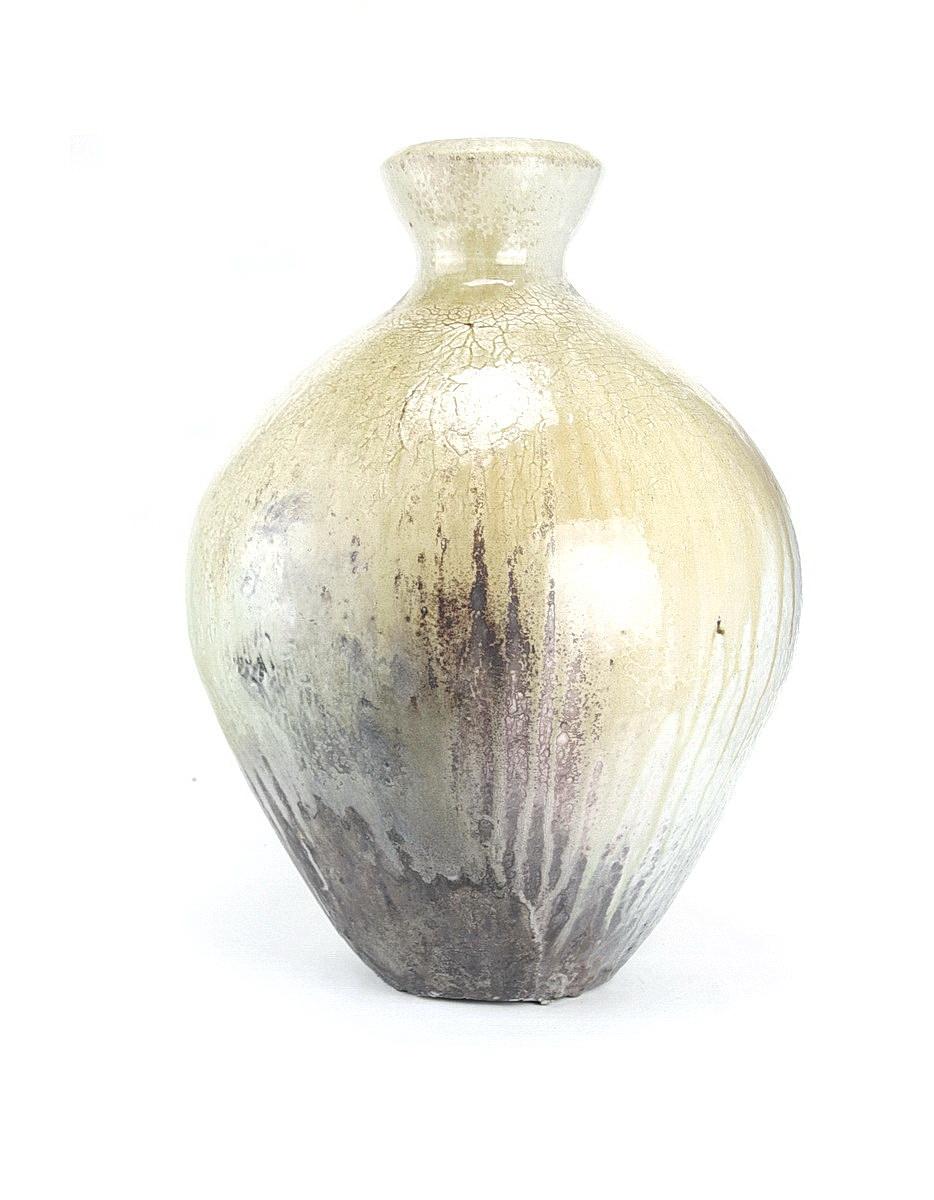Svend Bayer very large woodfired stoneware pot