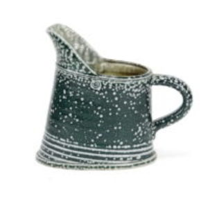 Walter Keeler squat stoneware jug blue salt glaze