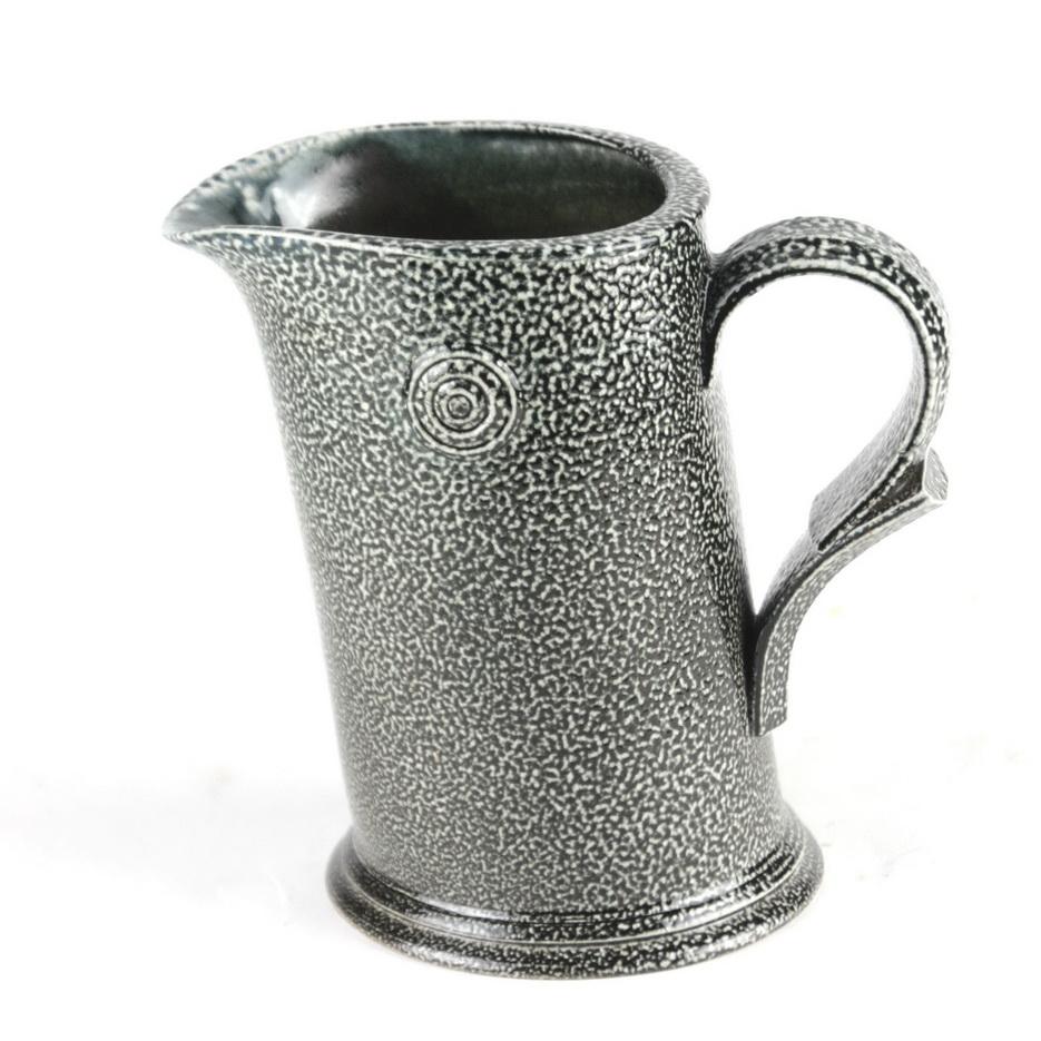 Walter Keeler stoneware salt glazed leaning jug